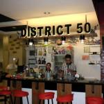 1950年代のアメリカをイメージしたレストラン、District50